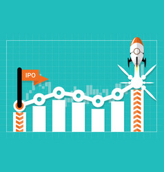 ipo or initial public offering corporate concept vector image
