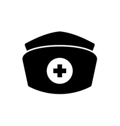isolated nurse hat icon vector image