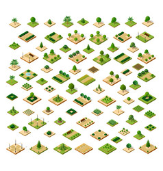 isometric 3d set park vector image