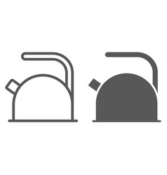 kettle line and glyph icon kitchen and cooking vector image