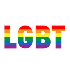 Lgbt inscription color spectrum banner or flag in vector