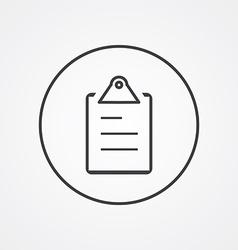 List outline symbol dark on white background logo vector