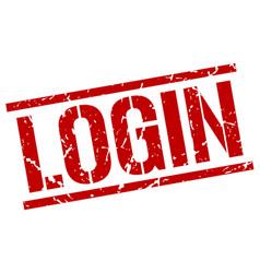 login stamp vector image