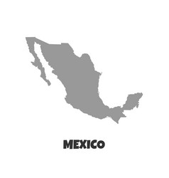 Mexico map high detailed map mexico on white vector