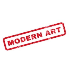 Modern Art Rubber Stamp vector