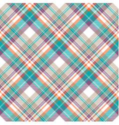 Modern check plaid fabric texture seamless pattern vector