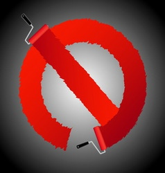 Not allow signl from paint roller brush vector