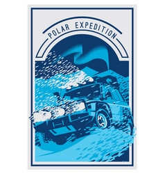 Off-road car logo safari suv polar expedition vector