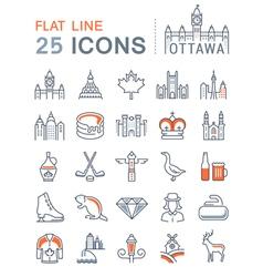 Ottawa Line Icons 4 vector