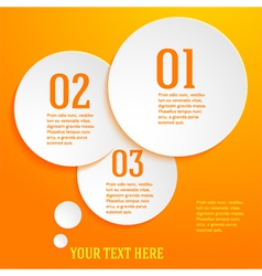 page template presentation steps option circle vector image