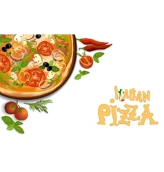 Pizza italian background vector