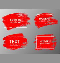 Red paint ink brush stroke brush line vector