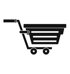 shopping basket on wheels icon simple style vector image