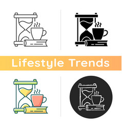 Slow living icon vector