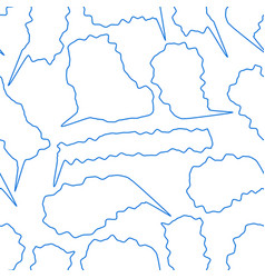 speech bubbles pattern vector image