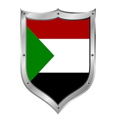 Sudan flag button vector image