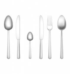 tableware objects vector image