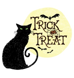 Trick or Treat Cat vector image