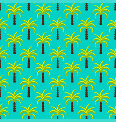 Tropic palm trees seamless pattern vector