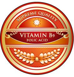Vitamin b9 icon vector