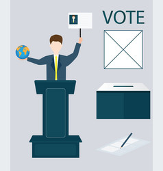 voting concept vector image