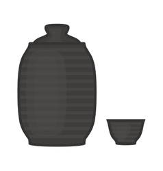 Water or drinks flask vector