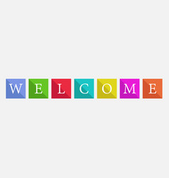 Word welcome vector