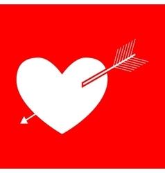 Arrow heart sign vector image vector image