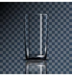 Glass cup transparent vector