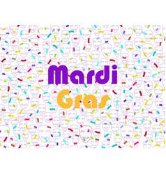 mardi gras festive seamless pattern with confetti vector image