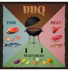Bbq menu poster vector image vector image