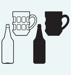 Bottles of beer vector image