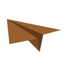 brown paper plane project start up vector image vector image