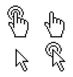 Cursor click pixel art vector image
