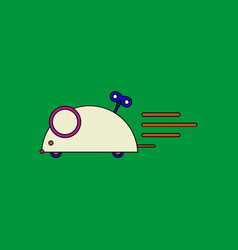 Flat icon design collection clockwork mouse toy vector