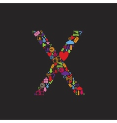 Letter X vector image vector image