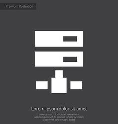 net drive premium icon white on dark background vector image