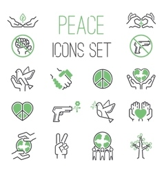 Peace icons set vector