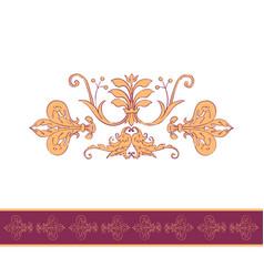 vintage seamless wallpaper vector image vector image