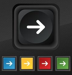 Arrow right Next icon symbol Set of five colorful vector image vector image