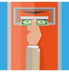 ATM Money withdrawal vector image