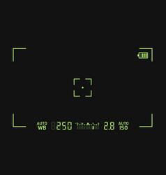 camera recording viewfinder black screen vector image