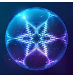 Cosmic shining abstract sphere vector image