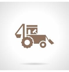 Farming tractor glyph style icon vector image