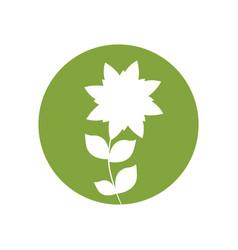flower garden natural icon vector image vector image