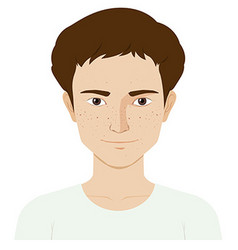 Man with skin problem vector image