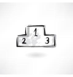 podium grunge icon vector image vector image