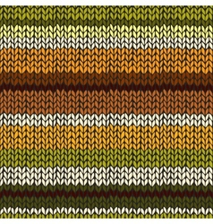 Seamless pattern with colorful knitted stripes vector image vector image