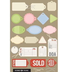 set of 20 different tags vector image vector image