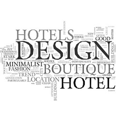 Why boutique design matters text word cloud vector